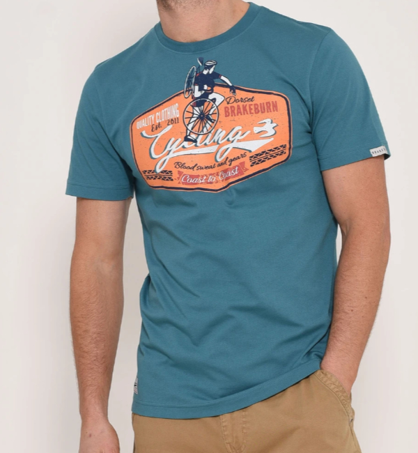 Brakeburn Blood Sweat & Gears T-Shirt - Oil Blue BBMSST005097S20