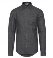 Casual-Friday-Mens-Arthur-Marl-Effect-Shirt-Anthracite-Black