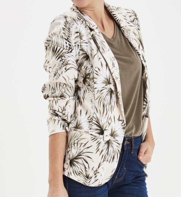 Fransa Fritblaze 1 Blazer - Hedge Mix Side 20607145