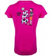 Its a Dogs Life Womens T-Shirt Feeding Time - Fuchsia Back