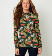 Joe-Browns-Womens-Floral-Roll-Neck-Top-Green-model-front.jpg