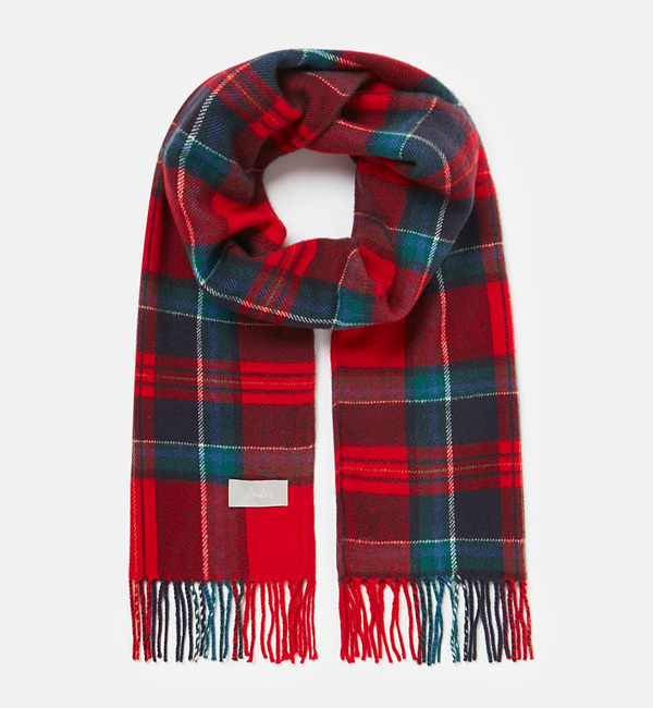 Joules-Bracken-Soft-Handle-Scarf-Red-Navy-Check-flat-front.jpg