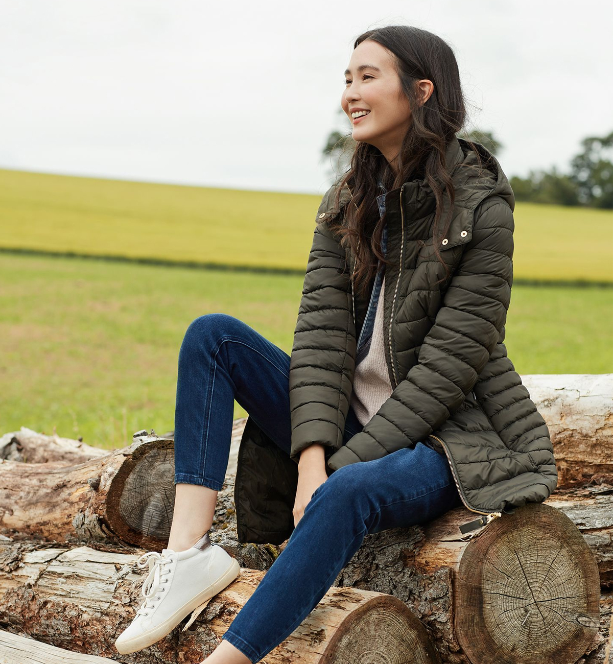 Joules-Canterbury-Long-Padded-Jacket-Heritage-Green