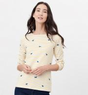 Joules-Harbour-Print-Jersey-Top-Dog-Stripe-model-front