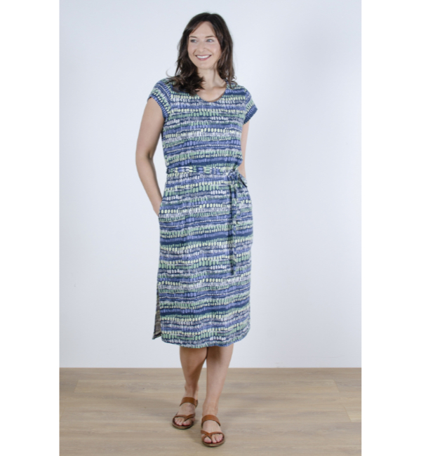 Lily & Me Weekend Dress Stone Waves - Navy LM7051