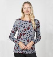 Lily-&-Me-Womens-Angela-Top-Flower-Trail-Grey