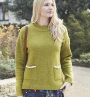 Lily-&-Me-Womens-Hygge-Plain-Jumper-Winter-Lime