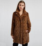 Louche-Wainwright-Animal-Print-Coat---Brown