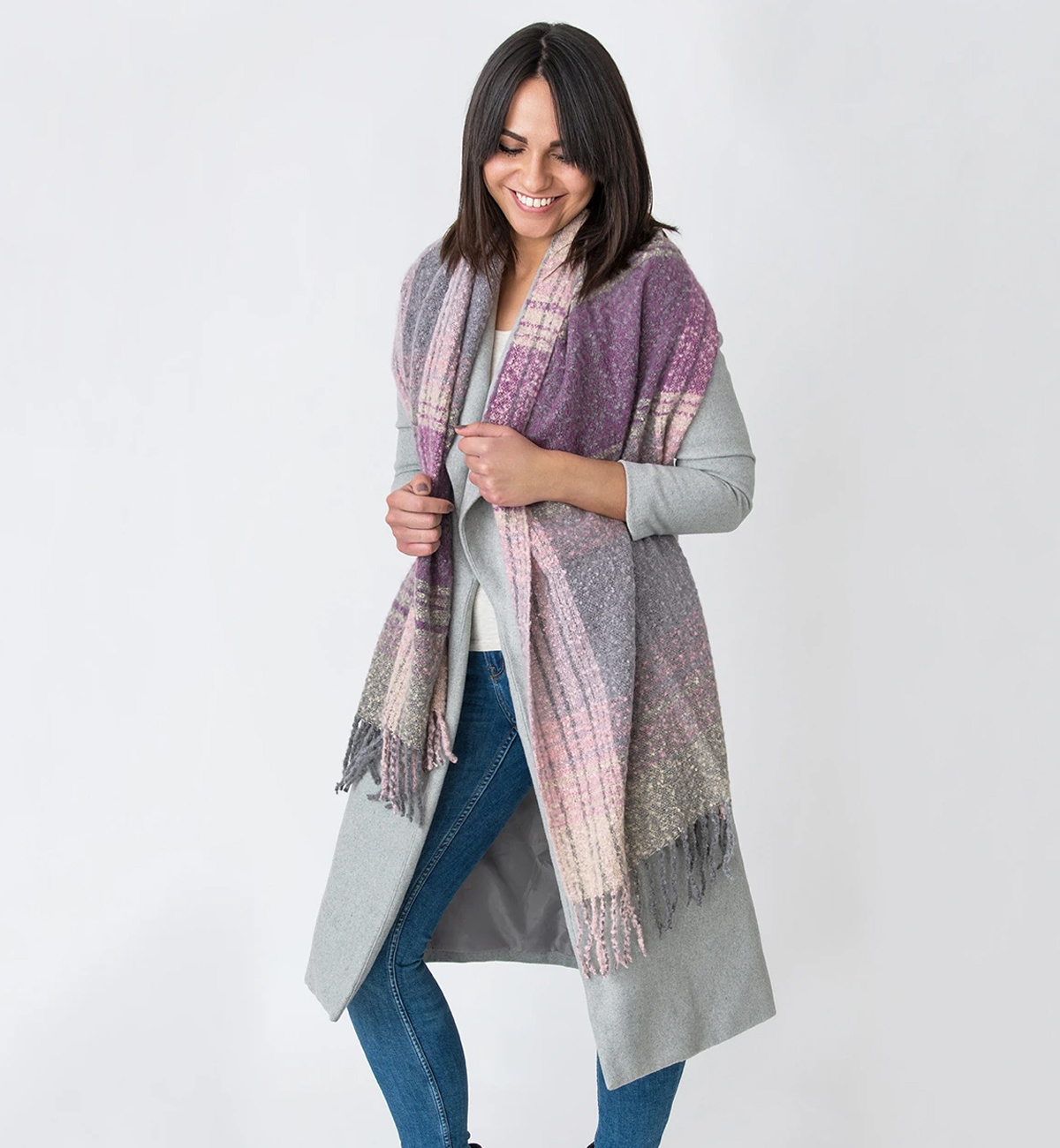 Millie-Mae-Womens-Imogen-Check-Boucle-Wrap---Purple.jpg