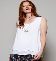 Nomads VL4034 Sleeveless Double Layer Top - White Front