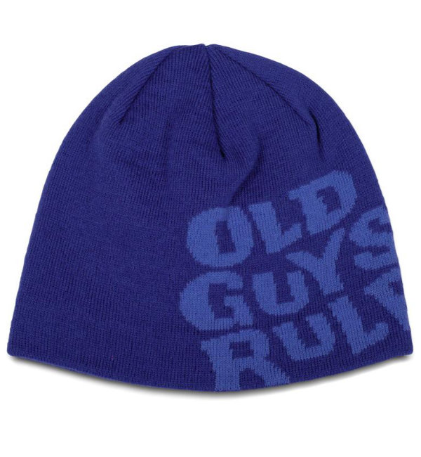 Old Guys Rule Beanie Stacked Logo Monaco Blue