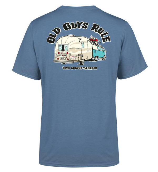 Old Guys Rule T-Shirt Been Around The Block 2 - Indigo OG5181