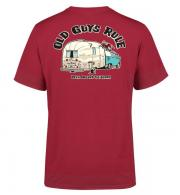 Old Guys Rule T-Shirt Been Around the Block II - Cardinal Red OG5181