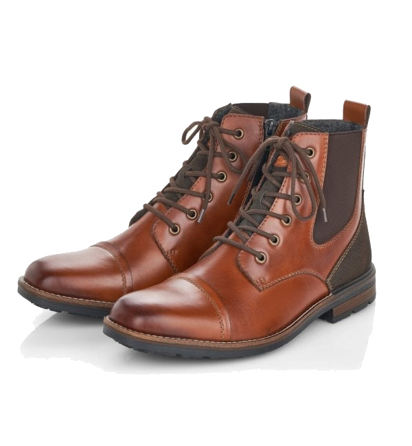 Rieker-Mens-Clermont-Warm-Lined-Lace-Up-Boot-Brown