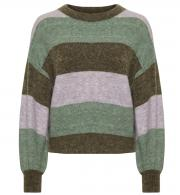 Soaked-Womens-SL-Angel-Stripe-Jumper-Green-Stripe