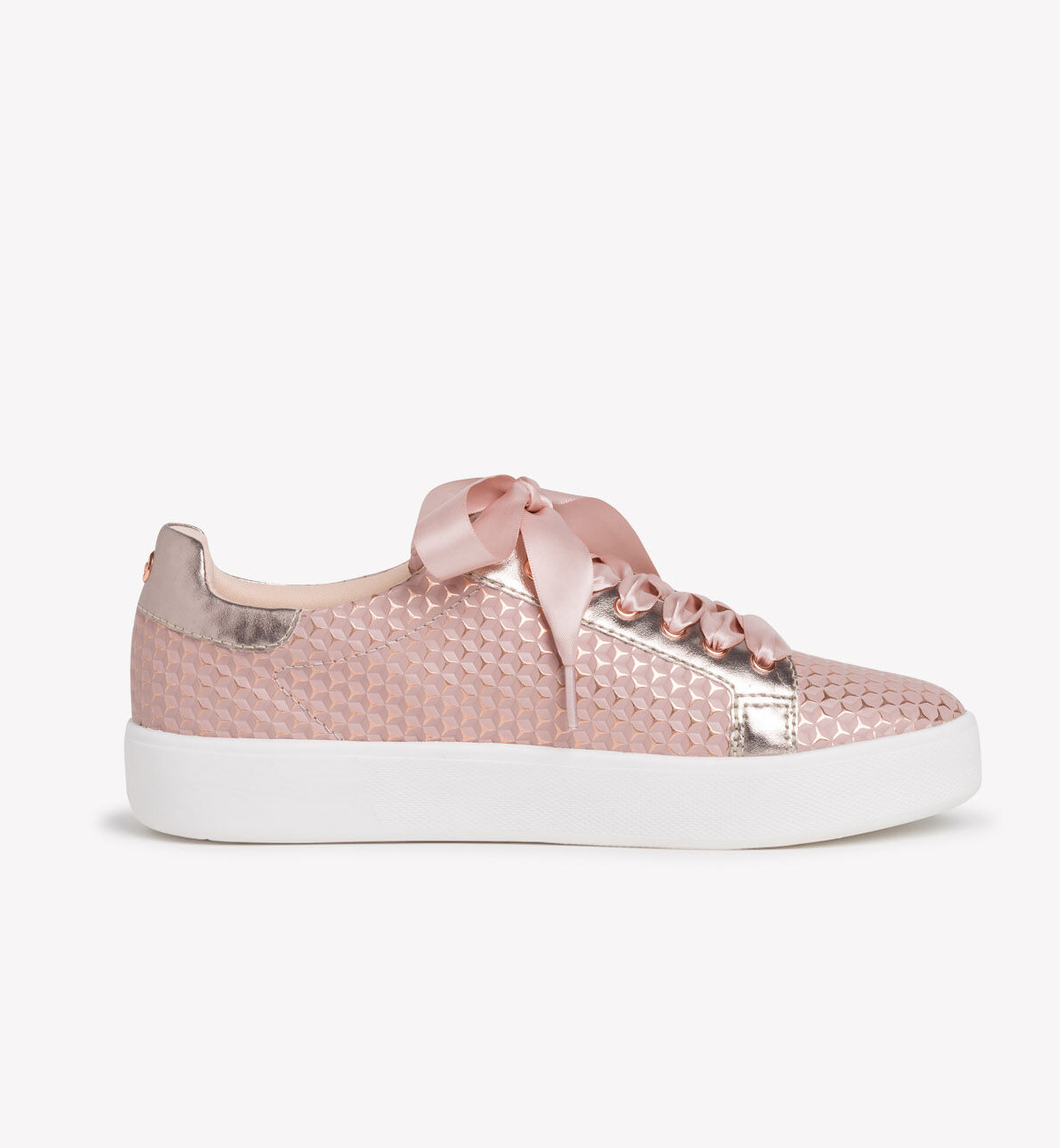 Tamaris-Womens-Textured-Lace-Up-Shoe---Rose-Structure