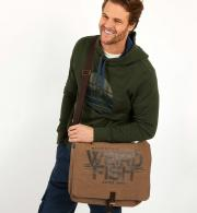 Weird Fish Contrail Waxed Messenger Bag - Bark