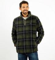 Weird-Fish-Mens-Hudson-Check-Borg-Fleece-Dark-Olive-model-front.jpg