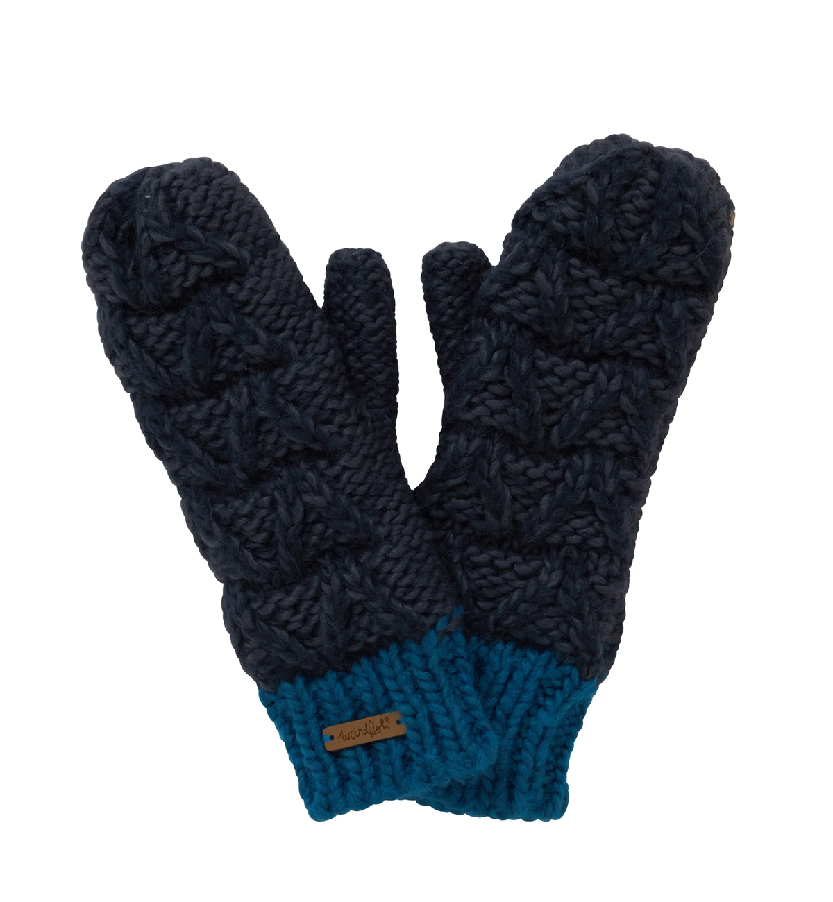 Weird-Fish-Womens-Nikki-Textured-Mittens-Navy-flat-front.jpg
