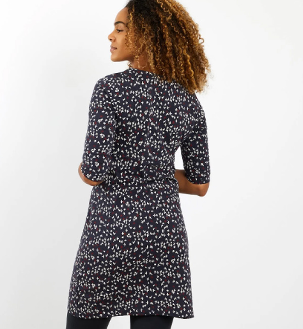 Weird-Fish-Womens-Starshine-Print-Dress-Dark-Navy-model-back.jpg