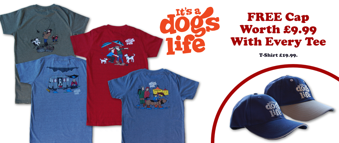 It's a Dog's Life t-shirt promotion