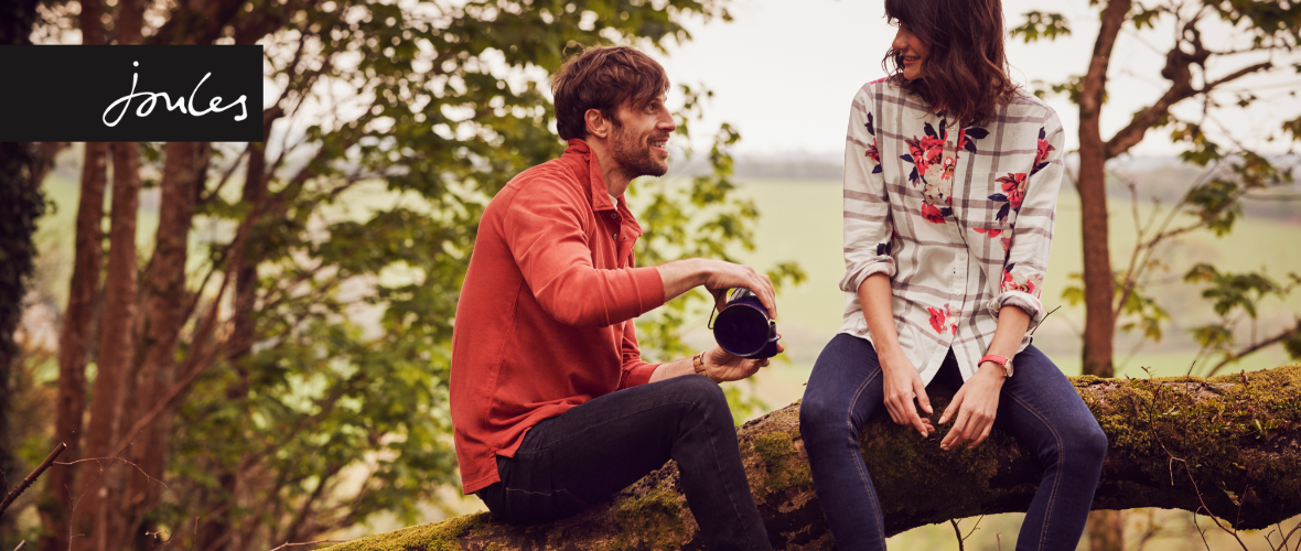 Joules Autumn Winter couple having picnic