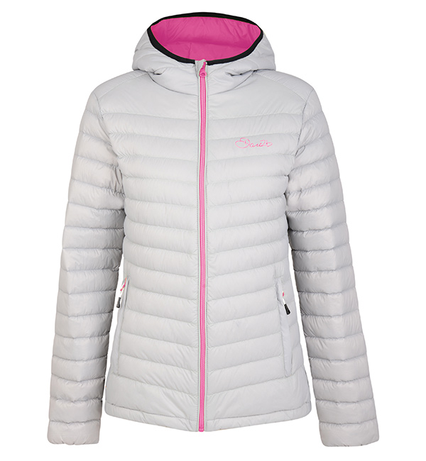 e090ee1942 Dare 2b Womens Drawdown Jacket - Silver Flash Pink